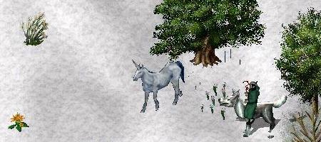 雪とユニコーン。