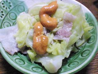 キャベツと豚バラ肉の重ね煮