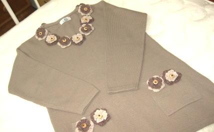 リメイク後(茶色のセーター)
