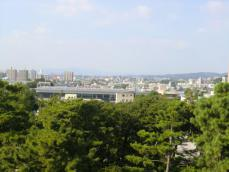 1-5岡崎城から町