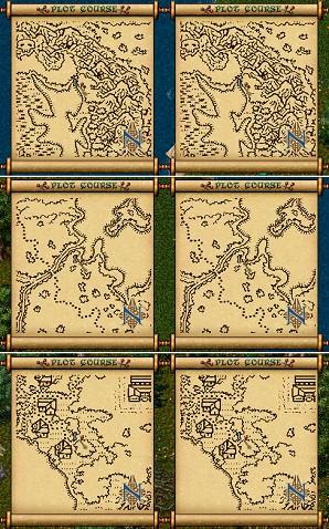 普通に入手した地図では、名誉の神殿近傍の分布図のみ重複しておりました
