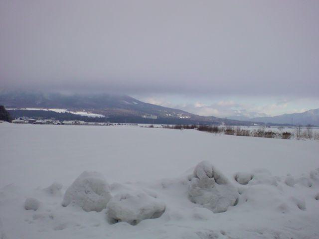 雪景色の磐梯