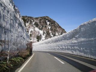 雪の回廊~、時々上に人がいるんだよ。