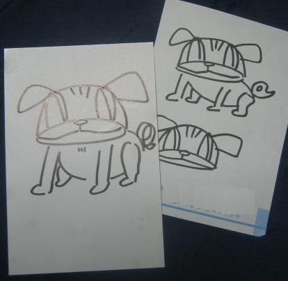 うなぎ画伯描「愛犬チッチ像」