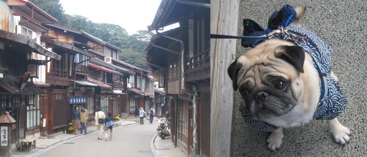 奈良井宿とチッチ君