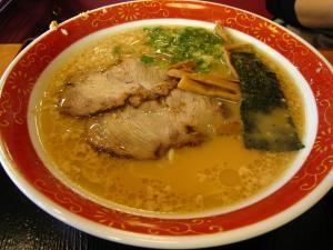 がんこラーメン「醤油とんこつラーメン」、福山市三吉町、