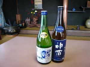 三輪酒造・神雷、「純米酒」&「本醸造酒」、1