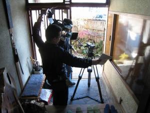 2009.11.26.、tss・テレビ新広島「人気もん」・取材、「撮影風景」1、