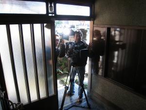 2009.11.26.、tss・テレビ新広島「人気もん」・取材、「撮影風景」2、