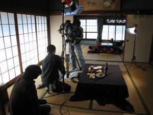 2009.11.26.、tss・テレビ新広島「人気もん」・取材、「撮影風景」3、