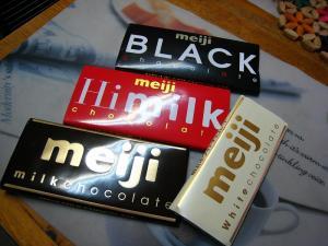 明治製菓のチョコレート、板チョコ、