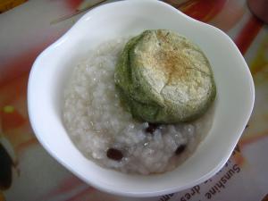 2010.1.15.「小豆粥」、小正月のご祝儀、自分用、1