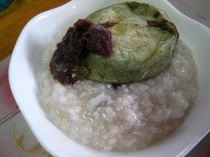 2010.1.15.「小豆粥」、小正月のご祝儀、自分用、2