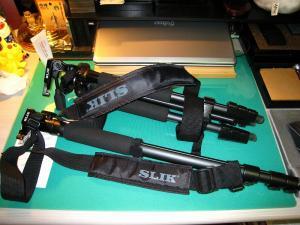 SLIK「三脚+ストラップL」、SLIK「一脚+ストラップM」、