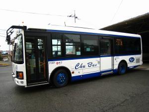 「中国バス」、2010年1月、油木車庫30年位ぶりの新車、ノンステップ・バス、3