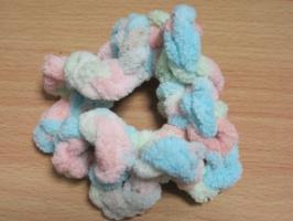 細編み+3目鎖編み