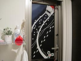 クリスマス・サンタ手ぬぐい