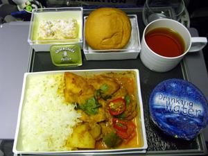 シンガポール空港・機内食