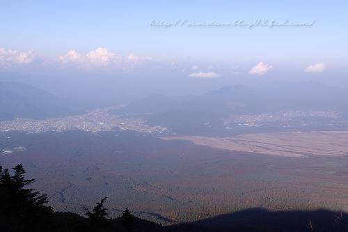富士山五合目からの眺め
