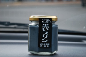 天塩道の駅黒いプリン