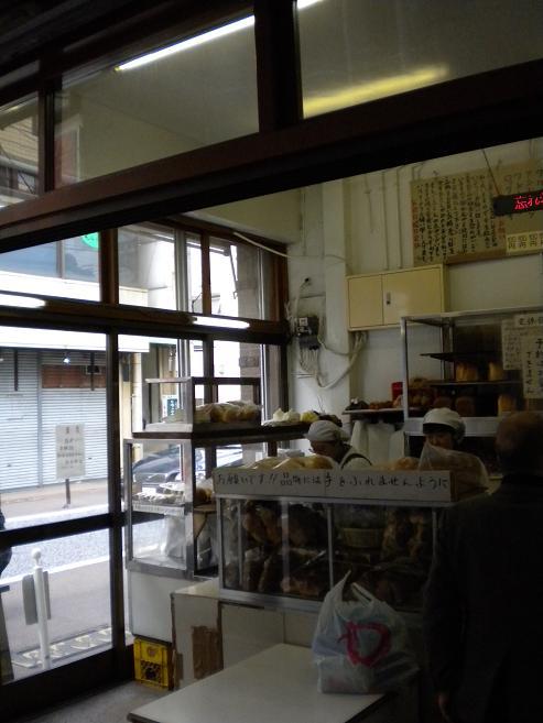 守谷のパン店内