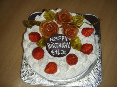 もな10歳の誕生日ケーキ