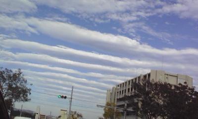 整列する雲