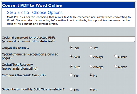 freepdftoword.org PDF Word 変換 ファイル形式