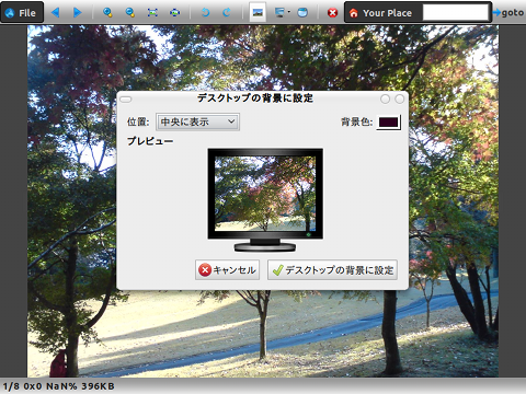Picture Browser Firefoxアドオン 画像ビューア 壁紙に設定