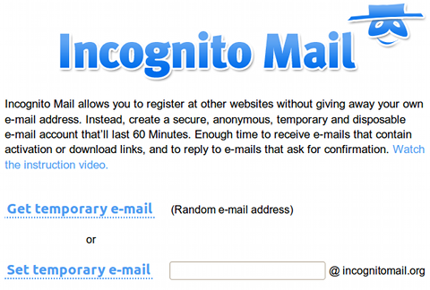 Incognito Mail 使い捨てメール