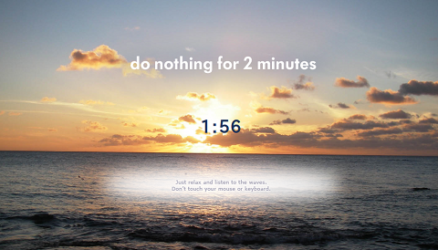 Do Nothing for 2 Minutes Webタイマー
