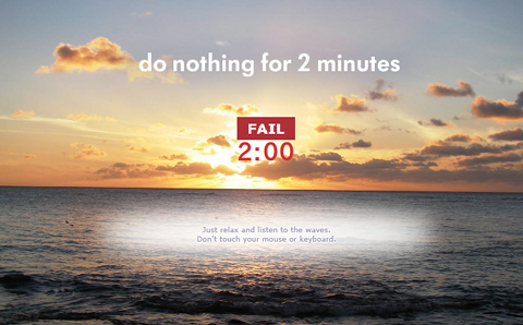 Do Nothing for 2 Minutes Webタイマー 失敗