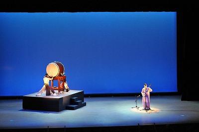 大太鼓(代表とさきえ)と竹山さんのコラボ