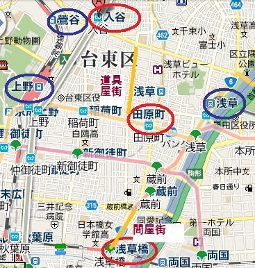 合羽橋MAP