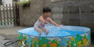 かえちゃんのプール遊び その2