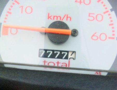 おおぉ? 77777 ♪
