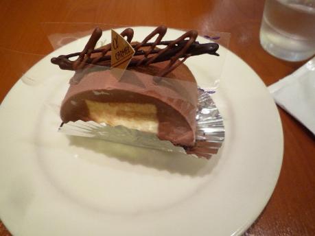 1柚子とチョコレートケーキ