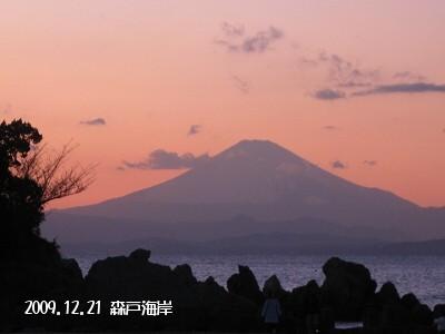 富士、浮かび上がる。