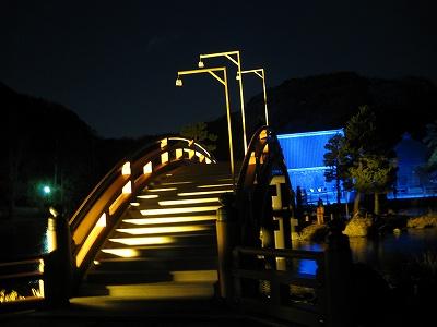 橋のたもと