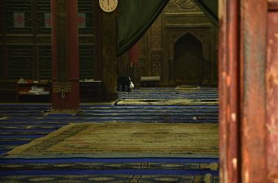 073お祈りをしている人を発見。
