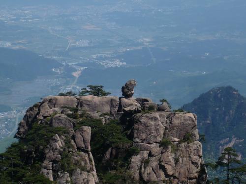 206黄山絶景ライオン岩