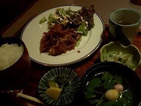 さざ波⑤生姜焼き定食840円