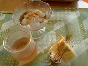 アペゼ④くずもち、アセロラゼリー、サツマイモケーキ