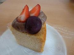 甘酒クリームシフォンケーキ