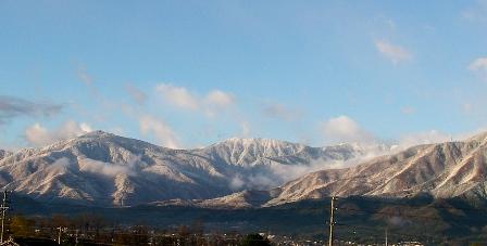 大滝山と蝶ヶ岳