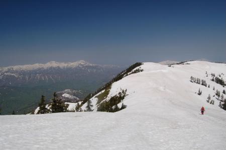 14中門岳への尾根