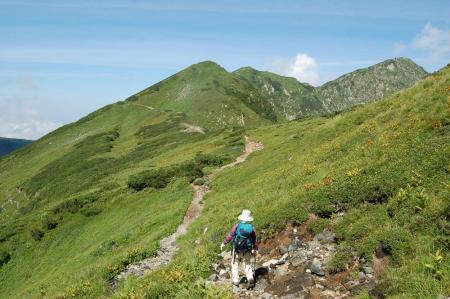 24奥大日岳への尾根