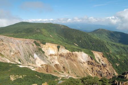 赤面山への稜線
