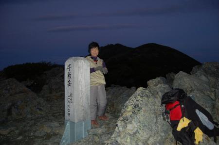 ②千枚岳山頂2