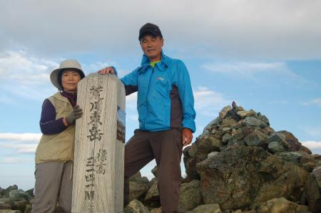 ②悪沢岳山頂15